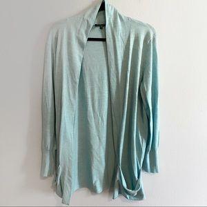 Eileen Fisher 100% merino wool open cardigan